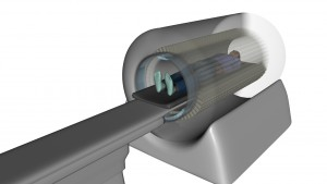 Figure 1. Artistic rendering of the EXPLORER scanner showing full coverage of the patient.